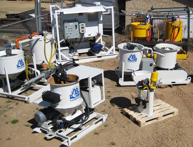 Grout pumps for rent, Grout mixers for rent, heavy equipment for rent